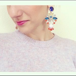 Ily Couture color fashion statement earrings